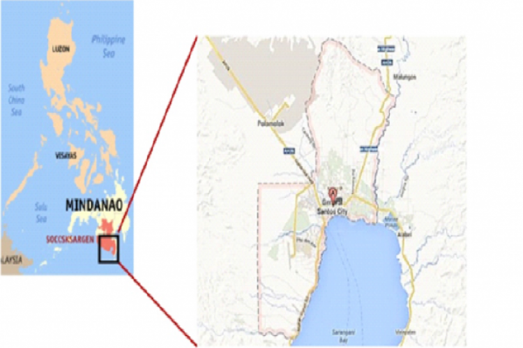 Map of General Santos City.