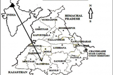Map of study area (Natt, BurjSema, Chathewala, Kaureana, Mirjeana, Manuana, Gehlewala, Maur Chart, Burj, Shekhpura, Jogewala and Gatwali) Bathinda district, Punjab, India.