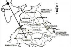 Map of study area (Natt, BurjSema, Chathewala, Kaureana, Mirjeana, Manuana, Gehlewala, Maur Chart, Burj, Shekhpura, Jogewala and Gatwali) Bathinda district, Punjab, India.